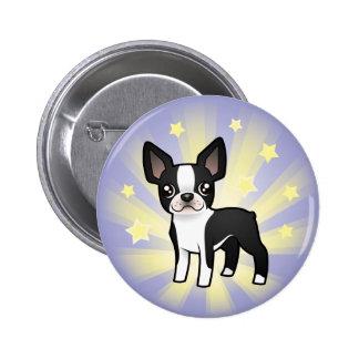 Little Star Boston Terrier Button