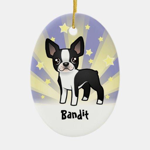 Little Star Boston Terrier Ceramic Ornament