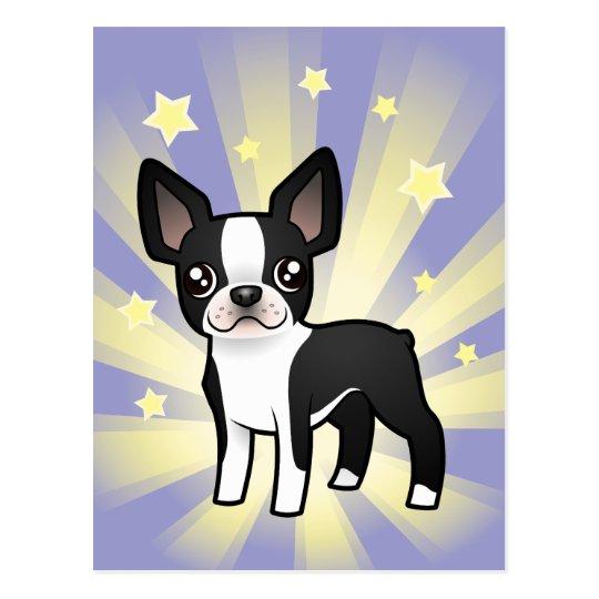 Little Star Boston Terrier Postcard