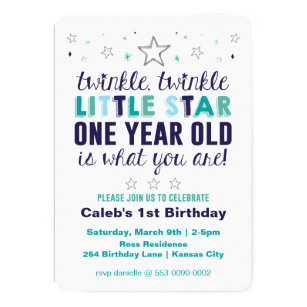 One year old boy birthday cards greeting photo cards zazzle little star boys first birthday card bookmarktalkfo Gallery