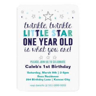 Little Star Boy's First Birthday Card