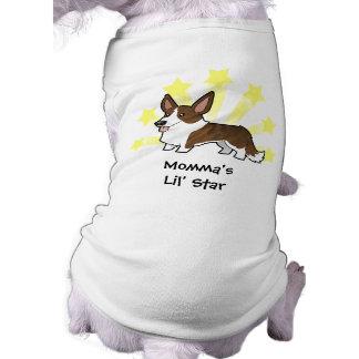Little Star Cardigan Welsh Corgi Doggie Tee Shirt