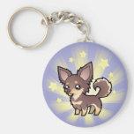 Little Star Chihuahua (long coat) Keychain