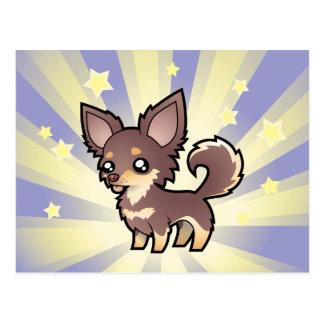 Little Star Chihuahua (long coat) Postcard