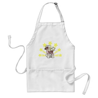 Little Star Chinese Crested (hairless) Adult Apron