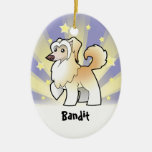 Little Star Chinese Crested (powderpuff) Christmas Ornaments