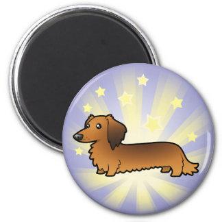 Little Star Dachshund (longhair) Magnet