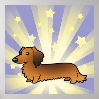 Little Star Dachshund (longhair) Poster