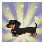 Little Star Dachshund (smooth coat) Poster