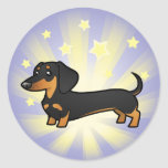 Little Star Dachshund (smooth coat) Round Sticker