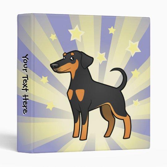 Little Star Doberman Pinscher (floppy Ears) 3 Ring Binder