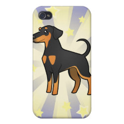 Case Savvy iPhone 4 Matte Finish Case with Doberman Pinscher Phone Cases design