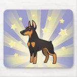 Little Star Doberman Pinscher (pointy ears) Mouse Pad
