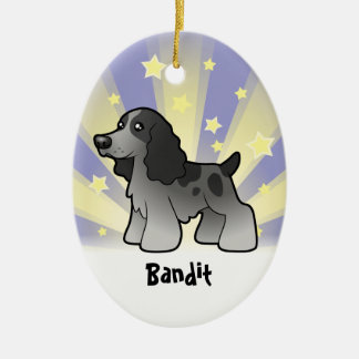 Little Star English Cocker Spaniel Ceramic Ornament