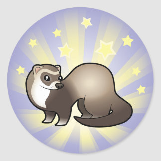 Little Star Ferret Classic Round Sticker
