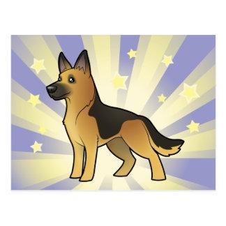 Little Star German Shepherd Post Cards