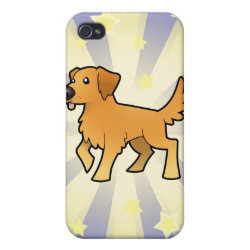 Case Savvy iPhone 4 Matte Finish Case with Golden Retriever Phone Cases design