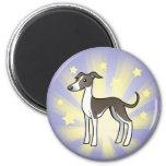Little Star Greyhound/Whippet/Italian Greyhound 2 Inch Round Magnet