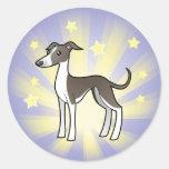 Little Star Greyhound/Whippet/Italian Greyhound Classic Round Sticker