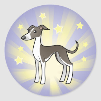 Little Star Greyhound/Whippet/Italian Greyhound Classic Round Sticker