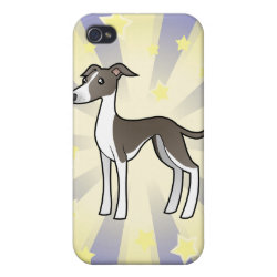 Case Savvy iPhone 4 Matte Finish Case with Greyhound Phone Cases design