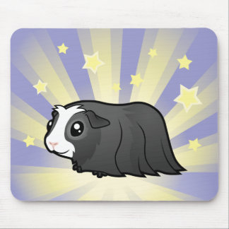 Little Star Guinea Pig (long hair) Mouse Pad