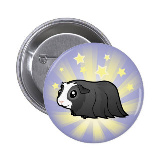 Little Star Guinea Pig (long hair) Pinback Button
