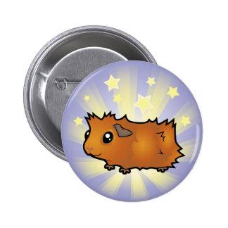 Little Star Guinea Pig (scruffy) Pinback Button