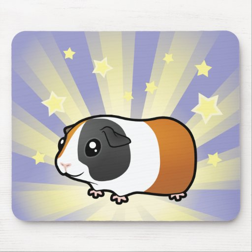 Little Star Guinea Pig (smooth hair) Mouse Pad