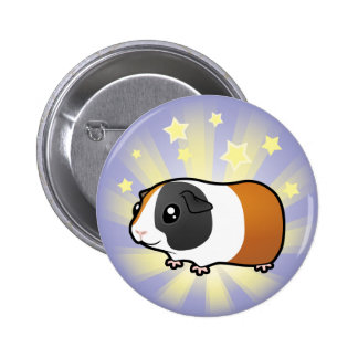 Little Star Guinea Pig (smooth hair) Pinback Button