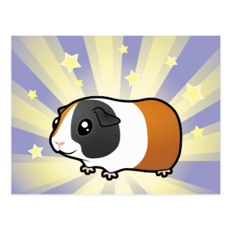Little Star Guinea Pig (smooth hair) Postcard
