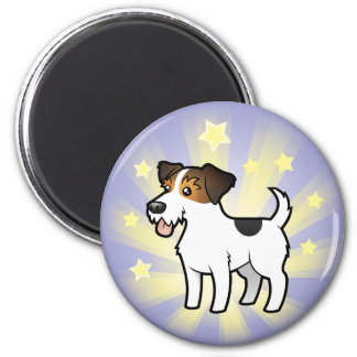 Little Star Jack Russell Terrier 2 Inch Round Magnet