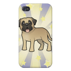 Case Savvy iPhone 4 Matte Finish Case with Bullmastiff Phone Cases design