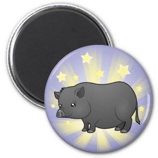 Little Star Miniature Pig 2 Inch Round Magnet
