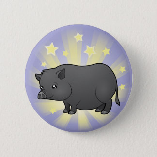 Little Star Miniature Pig Pinback Button
