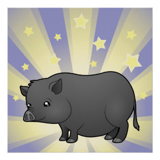 Little Star Miniature Pig Posters