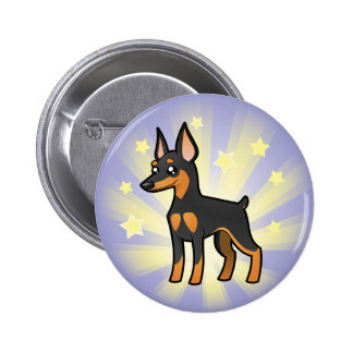 Little Star Miniature Pinscher /Manchester Terrier Pinback Button