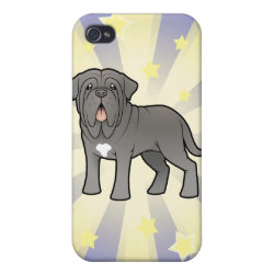 Case Savvy iPhone 4 Matte Finish Case with Mastiff Phone Cases design