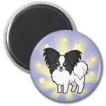 Little Star Papillon 2 Inch Round Magnet