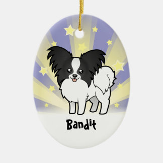 Little Star Papillon (add your pets name) Ceramic Ornament