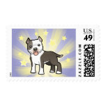 Little Star Pitbull/American Staffordshire Terrier Postage Stamp