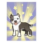 Little Star Pitbull/American Staffordshire Terrier Postcard