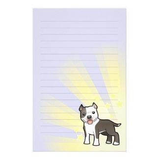 Little Star Pitbull/American Staffordshire Terrier Stationery