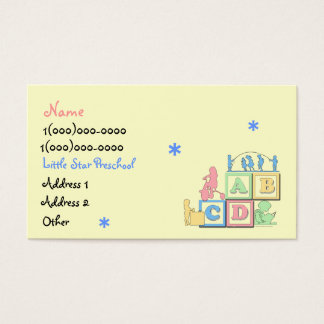 Little Star Preschool Business Card