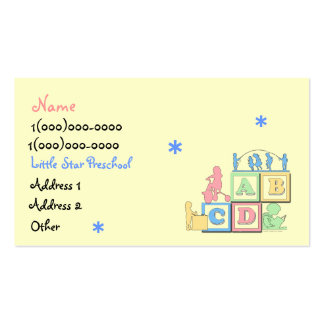 Little Star Preschool Business Card