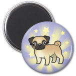 Little Star Pug 2 Inch Round Magnet