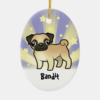 Little Star Pug (add your pets name) Ceramic Ornament