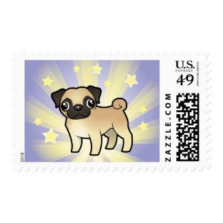 Little Star Pug Postage