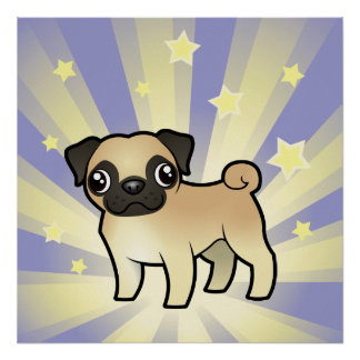 Little Star Pug Poster