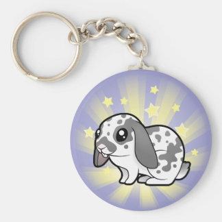 Little Star Rabbit (floppy ear smooth hair) Basic Round Button Keychain